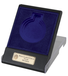 Blue Flip Top Transparent Medal Box (Box Only)