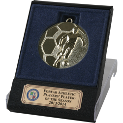 Rapid Gold Football Medal in Flip Top Box