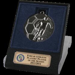 Rapid Silver Football Medal in Flip Top Box