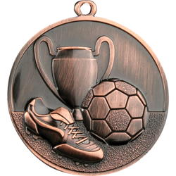 Triumph Bronze Football Medal