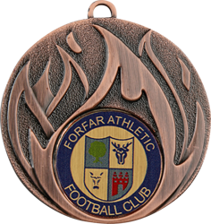 Blaze Bronze Football Medal