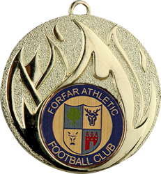 Blaze Gold Football Medal