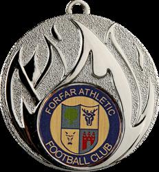 Blaze Silver Football Medal