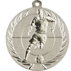 Action Football Medal Silver