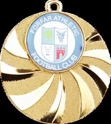 Blast Football Medal Gold