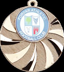 Blast Football Medal Silver