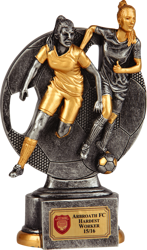 Rival Players Female Football Trophy