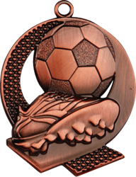 Strike Football Medal Bronze