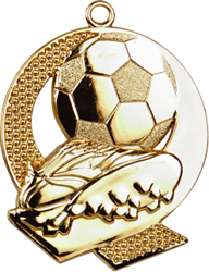 Strike Football Medal Gold