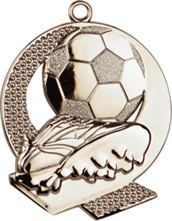 Strike Football Medal Silver